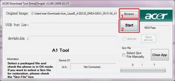 AcerDownloadTool S 100 Software Download Sul