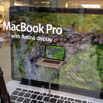 retina macbook pro window display