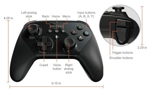 amazon new fire tv joypad spec