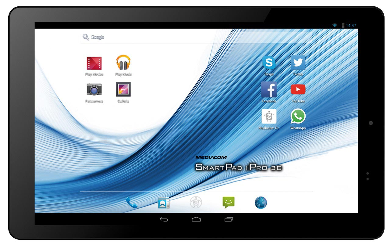 Mediacom presenta smartpad 10 1 hd ipro111 3g bits and chips