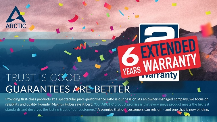 arctic warranty 6 year extension