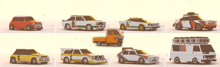 art of rally cars example lr