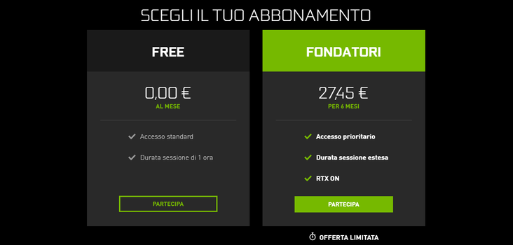 geforce now piano abbonamento